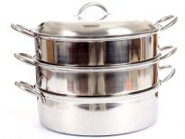 Stainless steel 3 pcs steamer set.