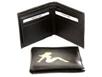 Bi-fold men wallet made of man made material
