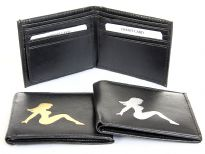 Faux leather bi-fold wallet
