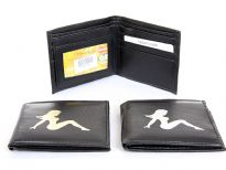 Faux leather bi-fold men wallet