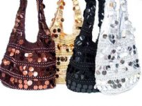 Crochet Sequin Shoulder Bag