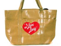 I Love Lucy Tote Bag haz magnetic closure with double handle made from PU (Polyurethane)