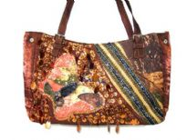 Rayon Fabric Sequin Handbag
