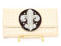Fleur De Liz check book wallet
