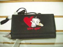 Betty Boop Check Book Wallet made of fabric.