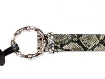 Ladies Belts - Sold Per Dozen. Animal print pattern and detailed ring buckle.