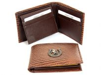 Embossed Genuine leather wallet with horse shoe Concho.