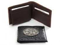 Carry your money in style. This is a lizard embossed genuine leather Western Style mens wallet. As this is genuine leather, please be aware that there will be some small creases and nicks in the leather but the wallet are all brand new.