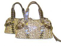 Soft Leopard Print PU Handbag