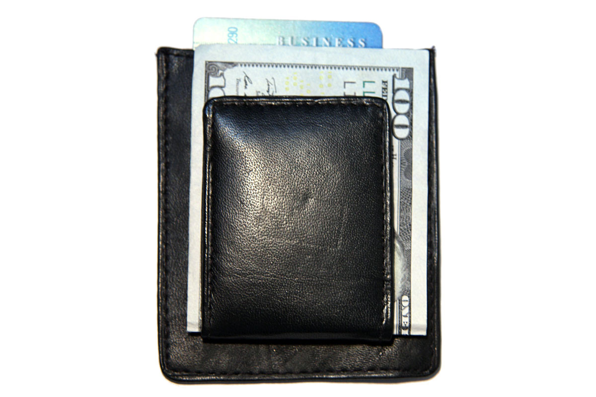 Magnetic Money Clip with Credit Card Holder