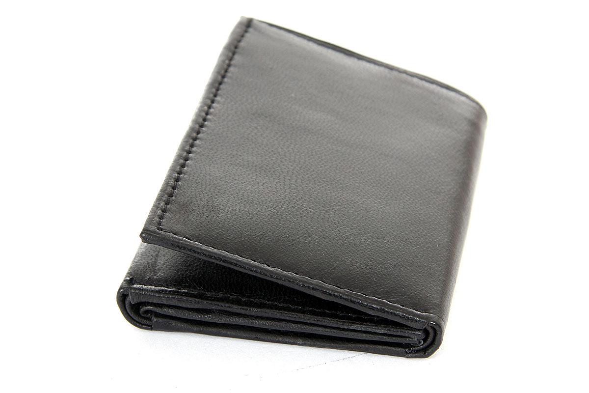 Men 39 s 2 id window 9 credit card trifold leather wallet for 2 id window wallet