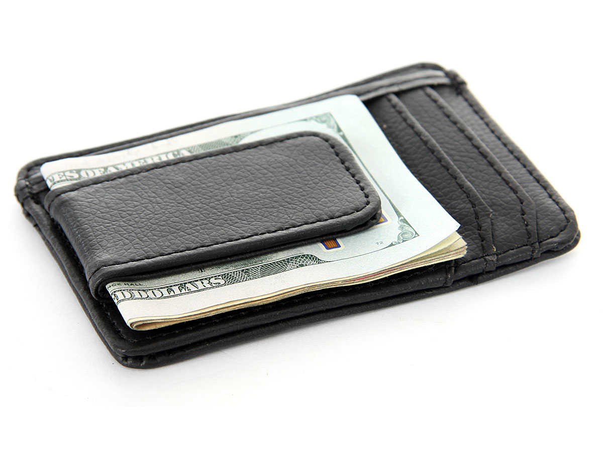 ae04e457ef5e Leather Magnetic Money Clip 3 Credit Card ID Holder in an alternative  picture