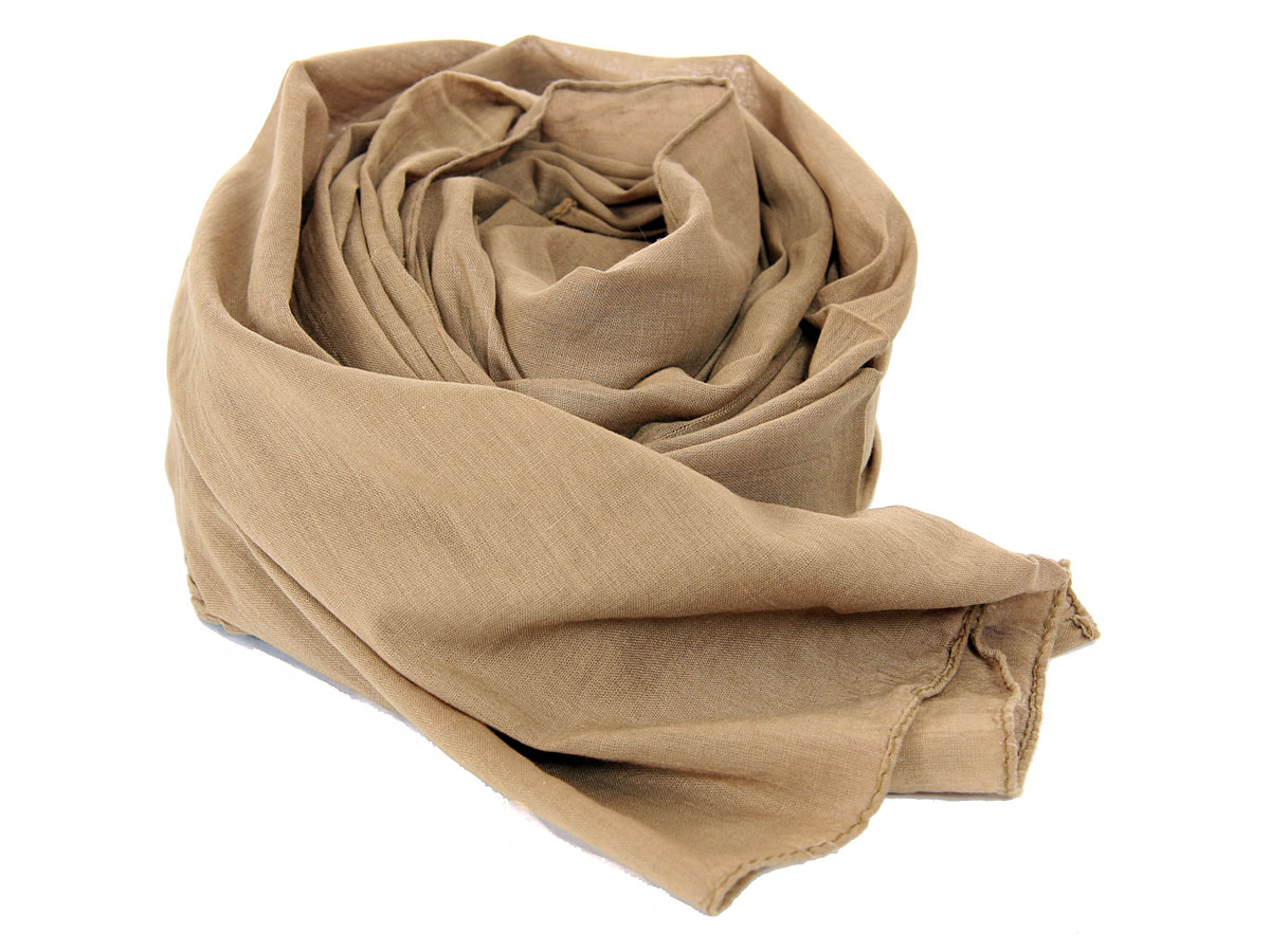 women 39 s cotton scarf in khaki 20 x 70 inches qm 16 kh fashion scarves wraps. Black Bedroom Furniture Sets. Home Design Ideas