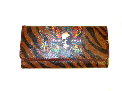 Tinkerbell tattoo art canvas checkbook wallet with canvas applique and